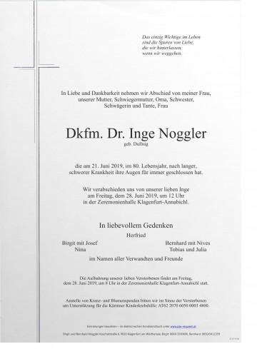 Dkfm. Dr. Inge Noggler