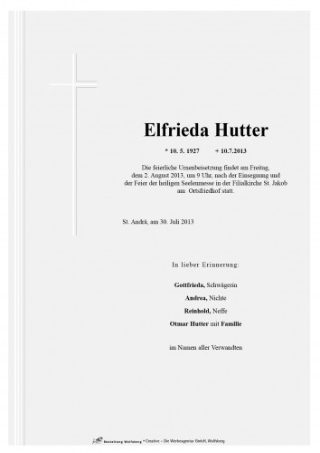 Elfrieda Barbara Hutter