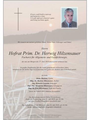 Dr. Herwig Hilzensauer