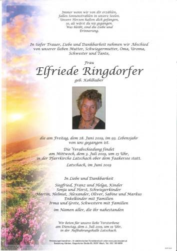 Elfriede Ringdorfer geb. Kohlhuber