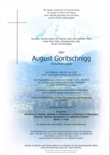 August Goritschnigg
