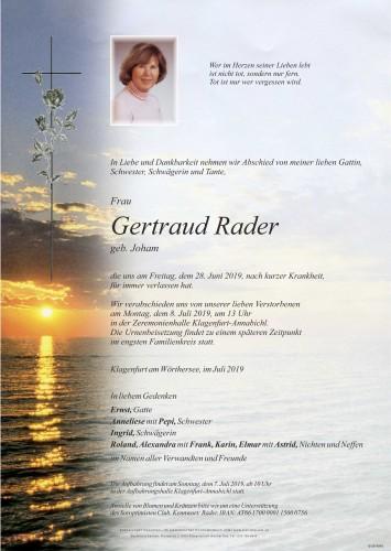 Gertraud Rader