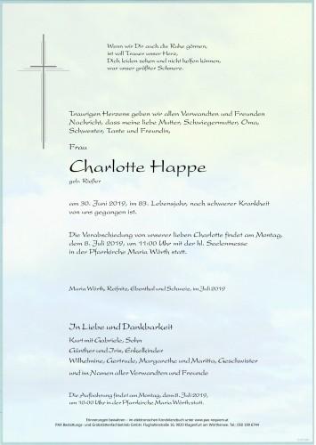 Charlotte Happe geb. Rießer