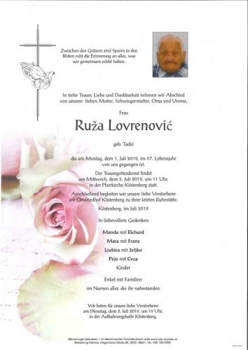 Ruza Lovrenovic geb. Tadic