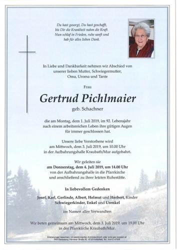 Gertrud Pichlmaier geb. Schachner