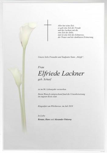 Elfriede Lackner
