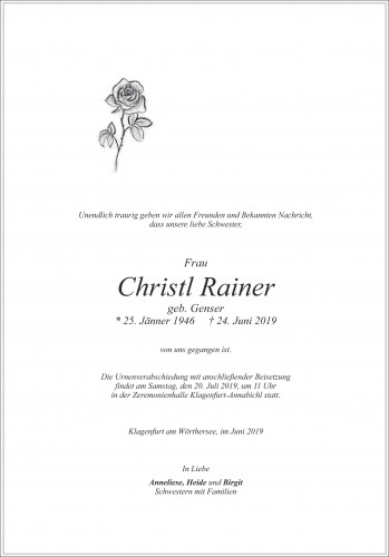 Christl Rainer