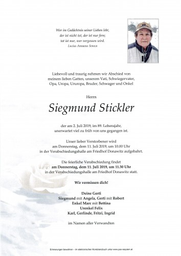 Siegmund Stickler