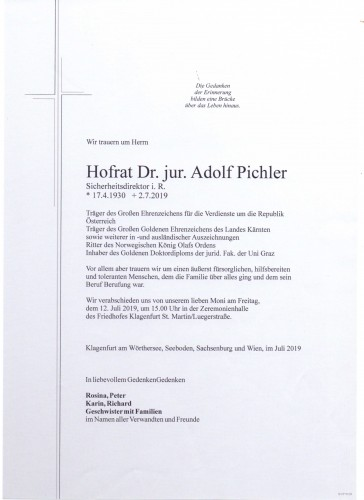 Hofrat Dr. Adolf Pichler