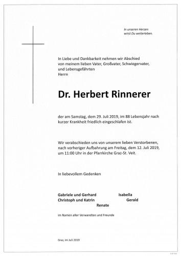 Dr. Herbert Rinnerer