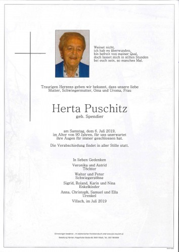 Herta Puschitz geb. Spendier