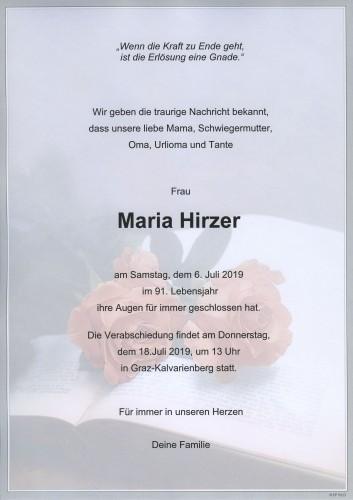 Maria Hirzer