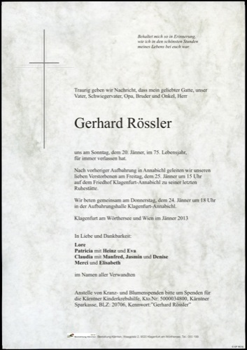 RÖSSLER Gerhard