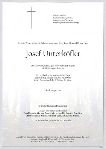 Josef Unterköfler