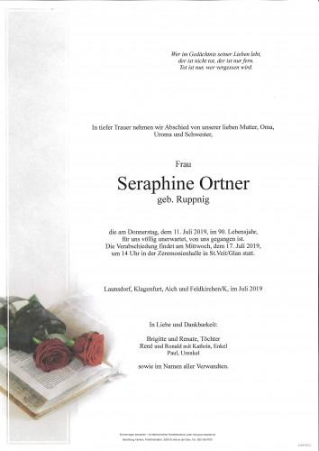 Seraphine Ortner  geb. Ruppnig