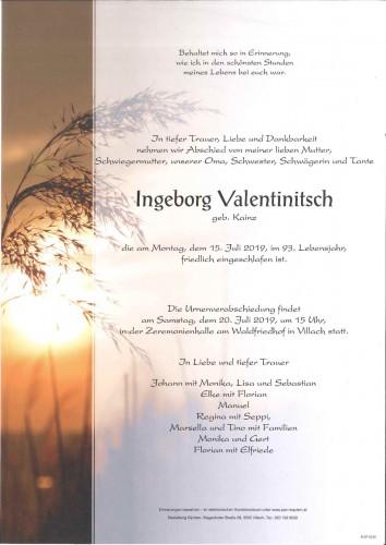 Ingeborg Valentinitsch geb. Kainz