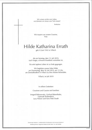 Hilde Katharina Errath