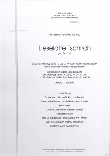 Lieselotte Tschirch geb. Schmidt