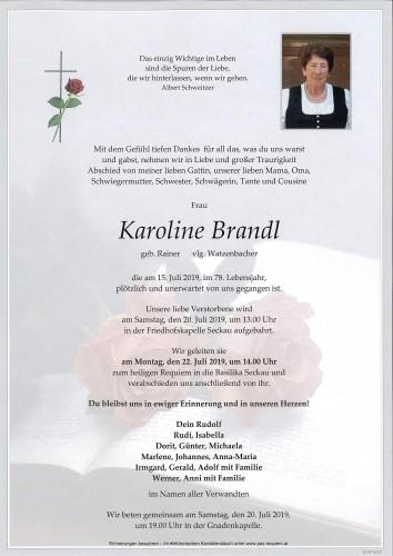 Karoline Brandl vlg. Watzenbacher