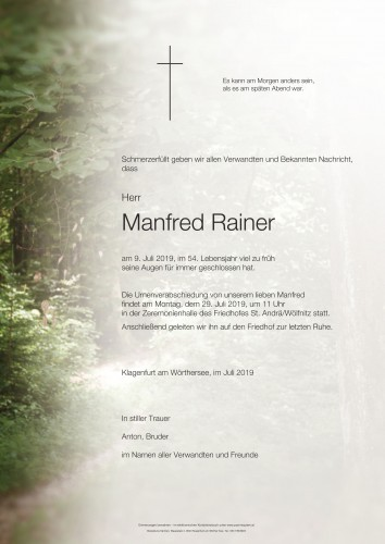 Manfred Rainer