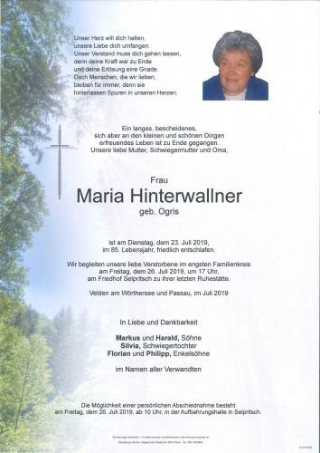 Maria Hinterwallner