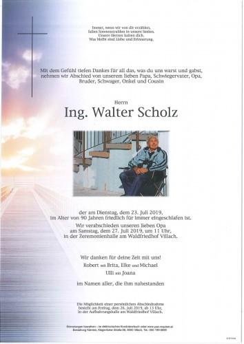 Ing. Walter Scholz