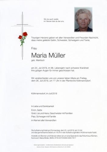 Maria Müller, geb. Mairitsch