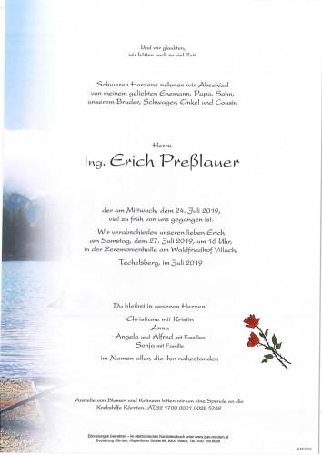 Ing. Erich Preßlauer