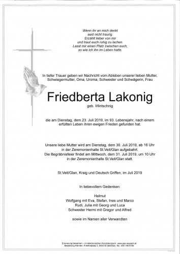 Friedberta Lakonig