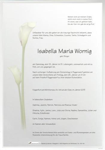 WORNIG Isabella Maria