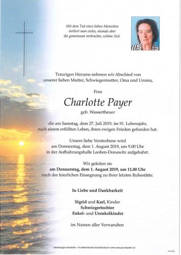 Charlotte Payer, geb. Wassertheuer