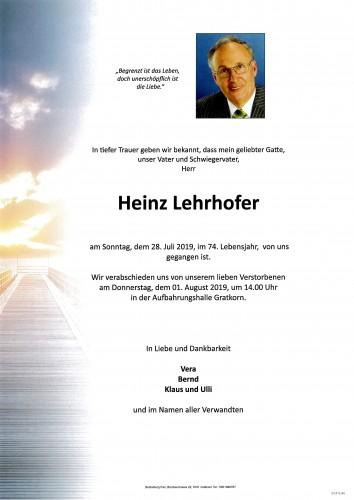Heinz Lehrhofer