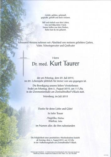 Dr. med. Kurt Taurer