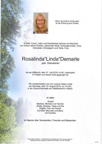 """Rosalinda""""Linda""""Demarle"""