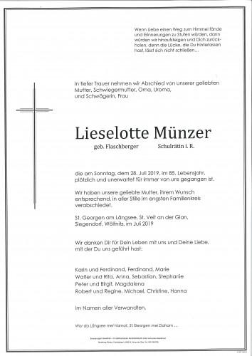 Lieselotte Münzer  geb. Flaschberger