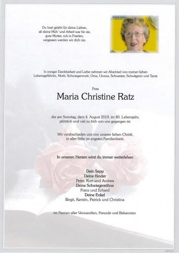 Maria Christine Ratz