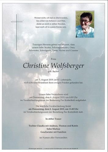 Christine Wolfsberger