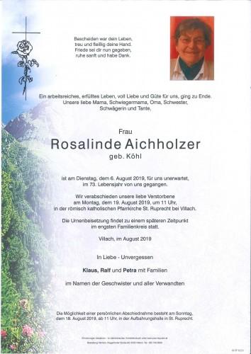 Rosalinde Aichholzer