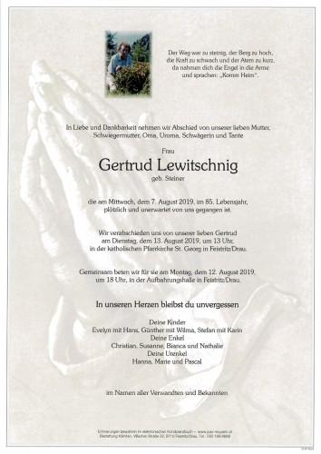 Gertrud Lewitschnig, geb. Steiner
