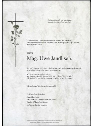Mag. Uwe Jandl sen.