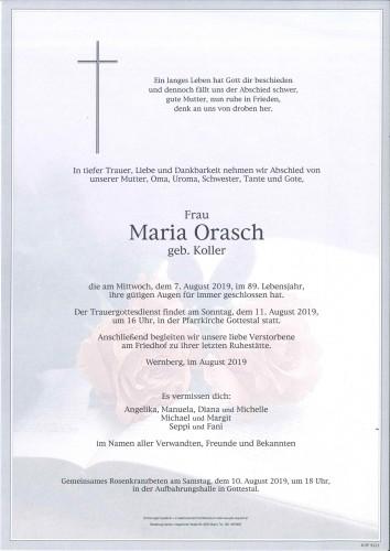 Maria Orasch