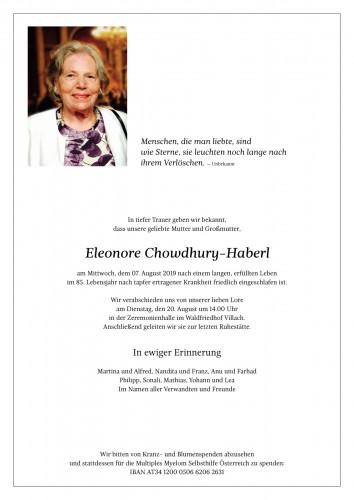Eleonore Chowdhury-Haberl