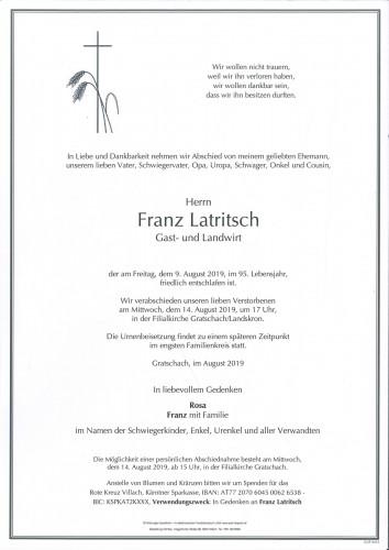 Franz Latritsch