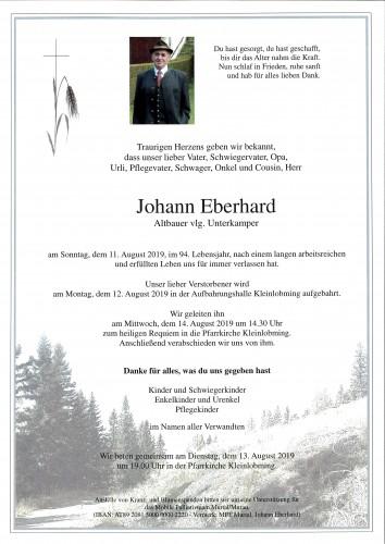 Johann Eberhard, vlg. Unterkamper