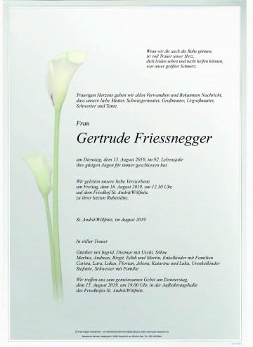 Gertrude Friessnegger