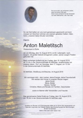 Anton Franz Maletitsch