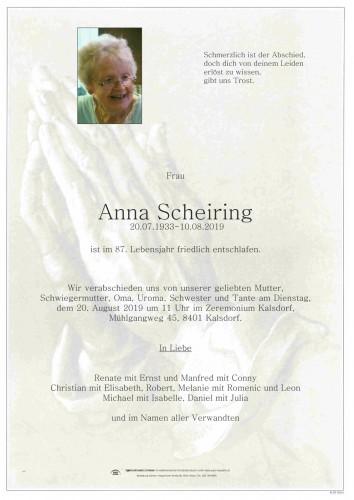 Anna Scheiring