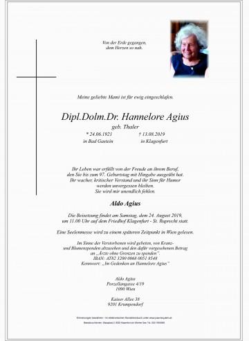 Dr. Hannelore Agius