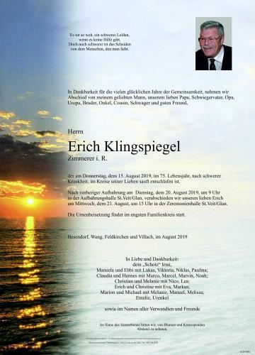 Erich Franz Klingspiegel