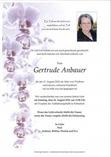 Gertrude Anbauer